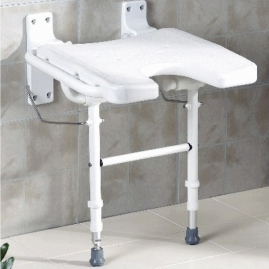 Asiento ducha en U abatible con patas regulables