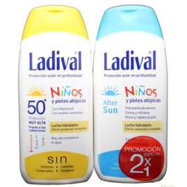 LADIVAL NIÑOS LECHE FPS 50 + AFTER SUN 200 ML