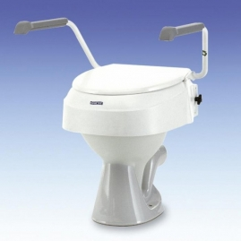Elevador Wc Regulable con Reposabrazos Aquatec Invacare