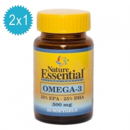 Omega 3  500 mg. 50 Perlas 2x1 Nature Essential
