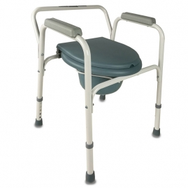 Silla con WC Plegable ARROYO con reposabrazos