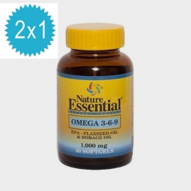 Omega 3-6-9 1000mg 30 Perlas 2x1 Nature Essential