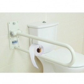 Barra Baño Abatible de pared FIDJI de 76 cm  Blanco