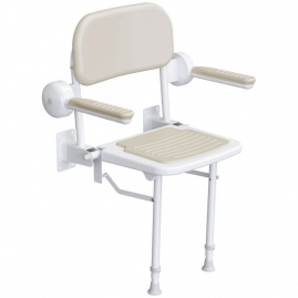 Asiento Abatible de Pared LAGON CONFORT con Respaldo